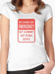Git Emergency Women's Fitted Scoop T-Shirt