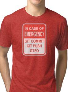 Git Emergency Tri-blend T-Shirt
