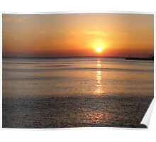 Sunset over Lesvos Poster
