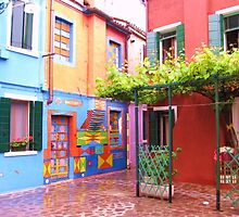 The Brightly Coloured Houses of Burano by Sue Gurney