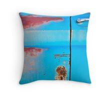 Blue Rust Throw Pillow