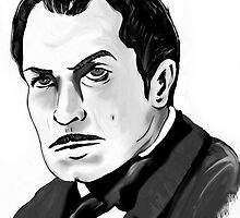 Vincent Price Horror Movie Art by Sarah Zinkann