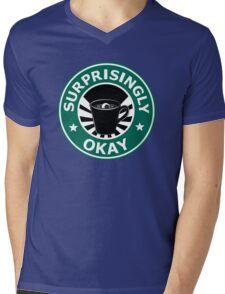 Sherlock's Coffee (Surprisingly Okay) Mens V-Neck T-Shirt