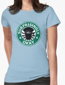 Sherlock's Coffee (Surprisingly Okay) Womens Fitted T-Shirt