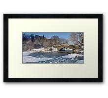 Snow Bridge and Ice Central Park Framed Print