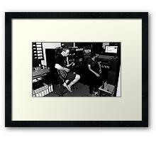 Weezal in the studio Framed Print