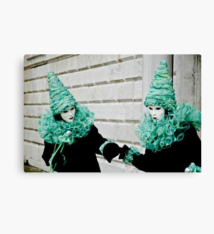 Hold my Hand - Venice Carnival Canvas Print