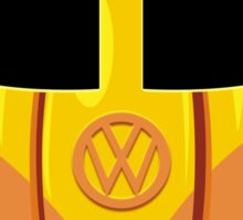 VW Camper Van Pumpkin Sticker