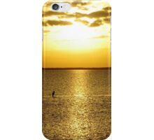 Shore bird taking in the setting sun on the Gulf of Mexico iPhone Case/Skin
