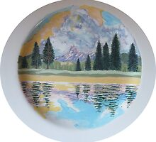Tuolumne River (Charger Plate) wip by Sally Sargent