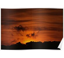 Day Break Above The Clouds Poster