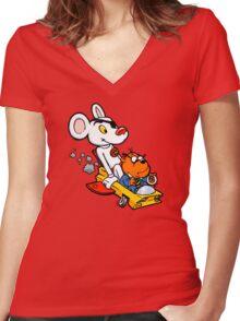 Ooer! Women's Fitted V-Neck T-Shirt