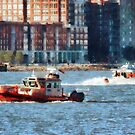 Fire Rescue Boat Hudson River by Susan Savad