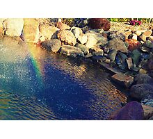 Rainbow in a pond. Photographic Print
