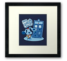 Who's Clues Framed Print