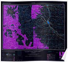 USGS Topo Map Washington State WA Yakima 244824 1961 250000 Inverted Poster