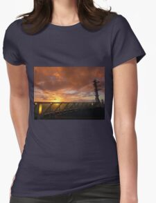 Sunrise at sea Womens Fitted T-Shirt