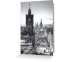 Princess Street, Edinburgh Greeting Card