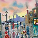 """""""the old harbour"""" oil painting by gordonbruce"""