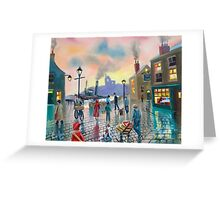 """""""the old harbour"""" oil painting Greeting Card"""