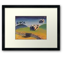 Wake up - the coobs are on the moove Framed Print