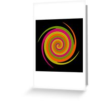 Six Squared With A Twirl Greeting Card