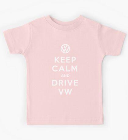 Keep Calm and Drive VW (Version 01) Kids Tee
