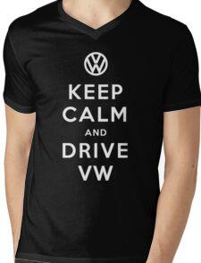 Keep Calm and Drive VW (Version 01) Mens V-Neck T-Shirt