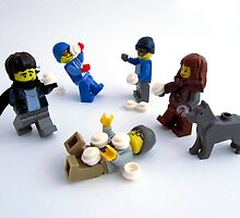 Minifig Snowball Fight!!! by HRLambert