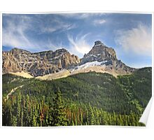 Wild Rugged Yoho Mountaintop Poster
