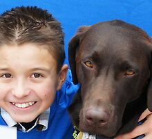 Wish Kid Alex with Ambassador Doc Barker by Karen Hight