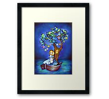 Alice in Wonderland Fantasy - Under the Dreaming Tree Framed Print
