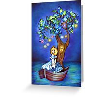 Alice in Wonderland Fantasy - Under the Dreaming Tree Greeting Card