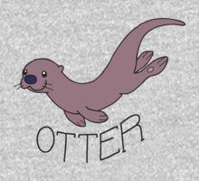 Cute River Otter Shirt One Piece - Long Sleeve