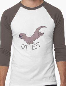 Cute River Otter Shirt Men's Baseball ¾ T-Shirt