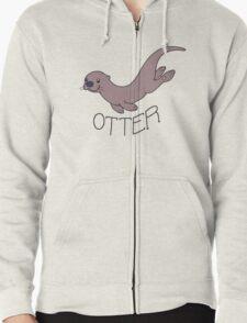 Cute River Otter Shirt Zipped Hoodie
