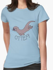 Cute River Otter Shirt Womens Fitted T-Shirt