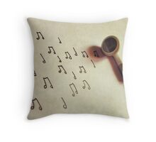 Let the Music Play Throw Pillow