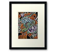 japanese snake  Framed Print