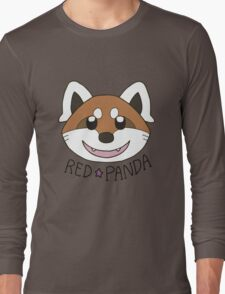 Cute Red Panda Grin Long Sleeve T-Shirt