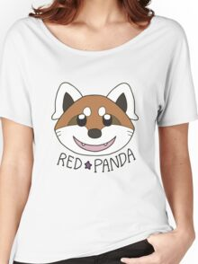 Cute Red Panda Grin Women's Relaxed Fit T-Shirt