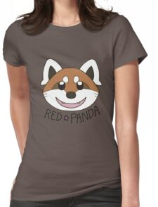 Cute Red Panda Grin Womens Fitted T-Shirt