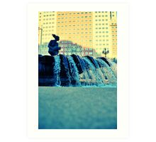 Plaza España fountain Art Print