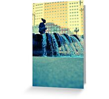 Plaza España fountain Greeting Card