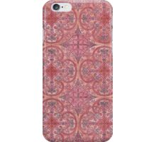 Coloring: red and pink tiles  iPhone Case/Skin