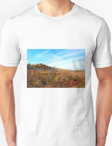 Blue skies to compliment the fall colours Unisex T-Shirt
