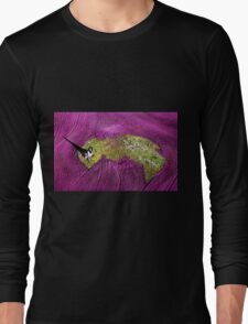 Burnt tree and ploughed fields, Benalla, Victoria Long Sleeve T-Shirt