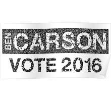 Vote Ben Carson Poster