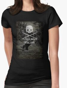 Skater falling Womens Fitted T-Shirt