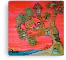 Paradise Reader Canvas Print
